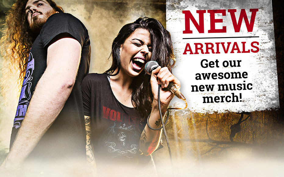 Get our awesome new music merch!