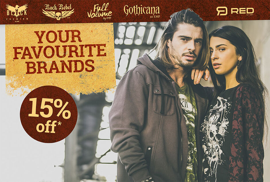 15% off our exclusive brands