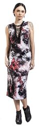 Dark Passions Floral Tie Up Dress
