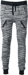Ladies Fitted Melange Zip Sweatpants