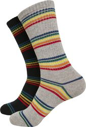 Rainbow Stripes Socks 2-Pack