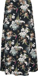 Ladies AOP Flowers Viscose Midi Skirt