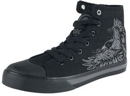 Lined Sneakers with Raven Print