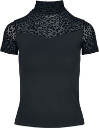 Ladies Flock Lace Turtleneck Tee