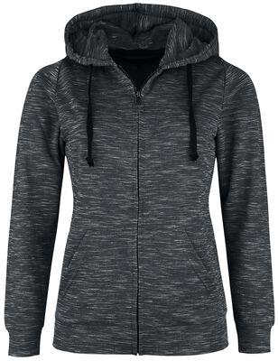 Grey mottled hooded jacket