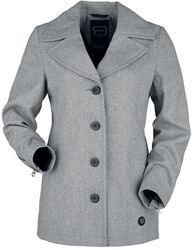 Short Grey Button-Up Coat