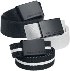 Canvas Belt 3-Pack