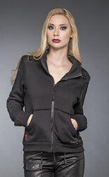 Jacket with Printed Sleeves