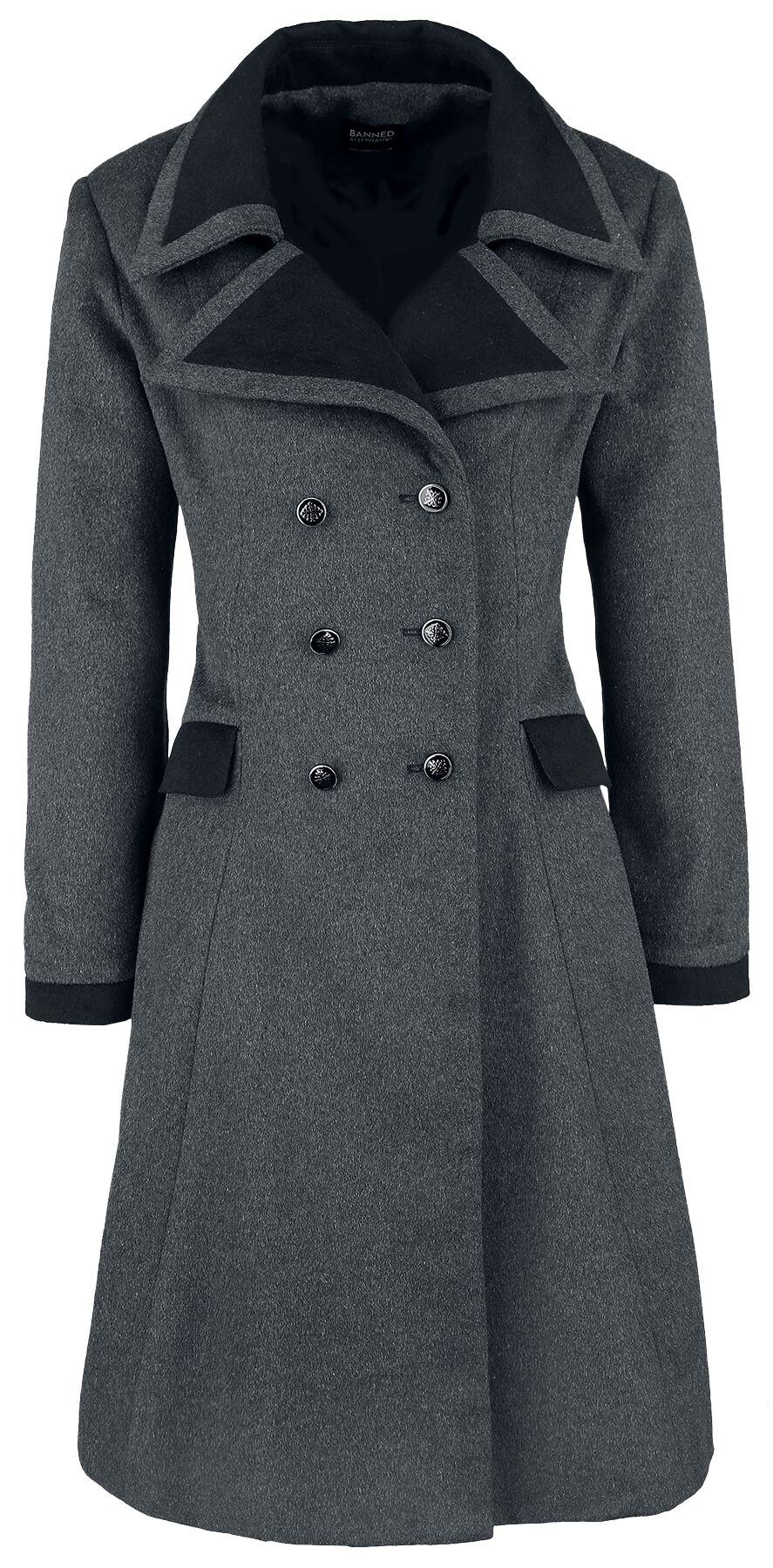 Rasoio trascinare a voce alta  Retro Coat | Banned Wool Coat | EMP
