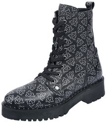 Boots with Celtic-Style Print
