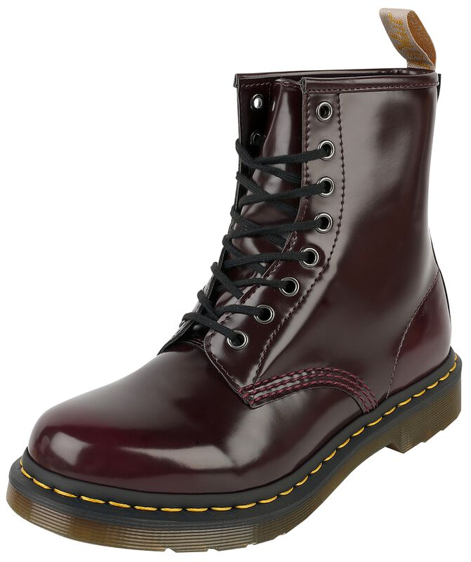 Vegan 1460 Cherry Red Oxford Rub Off 8 Eye Boot
