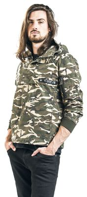 Between-seasons jacket with camouflage print