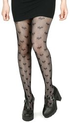 Fishnet Heart Tights
