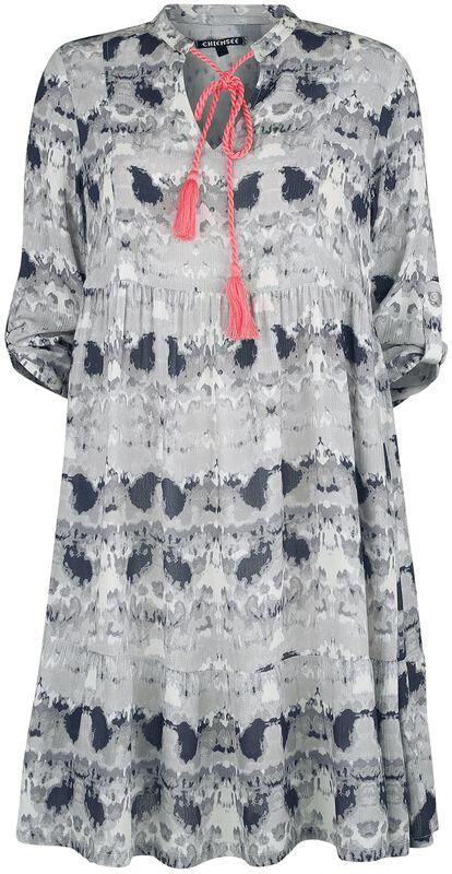 RED X CHIEMSEE - white/black batik dress