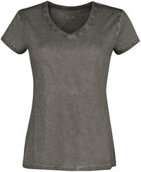 Grey T-shirt with V-neck