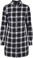 Ladies Cotton Check Shirt Dress