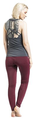 Sport and Yoga - Red Leggings with All-Over Print