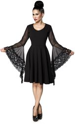 Gothic Dress with Trumpet Sleeves