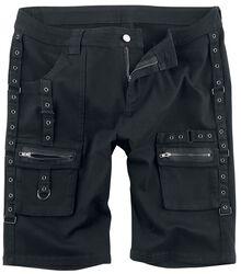 Black Strap Shorts