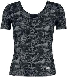 Graues Shirt mit Totenkopf Muster