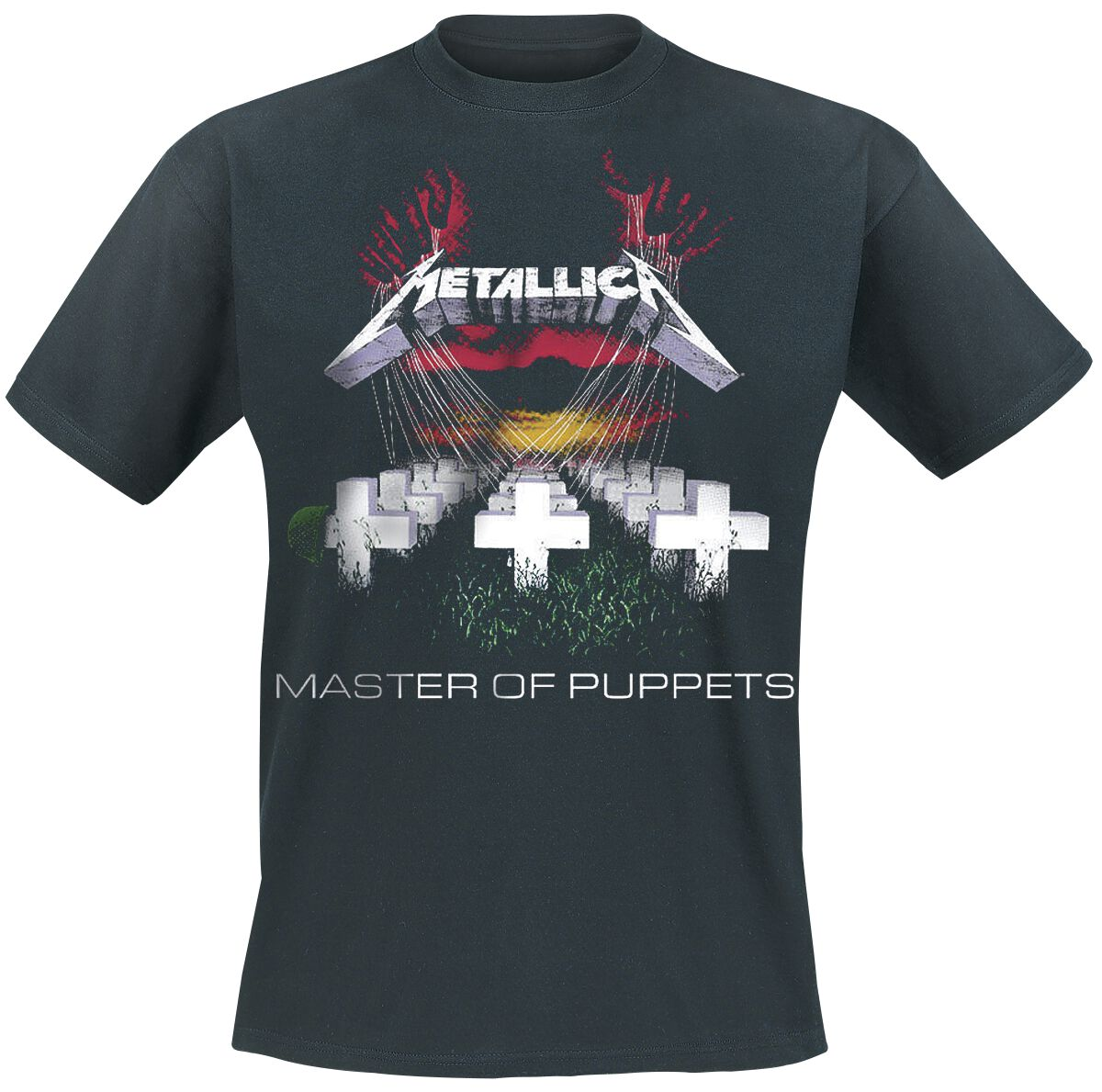 T-Shirt Black NEW /& OFFICIAL! Metallica /'Master Of Puppets Photo/'