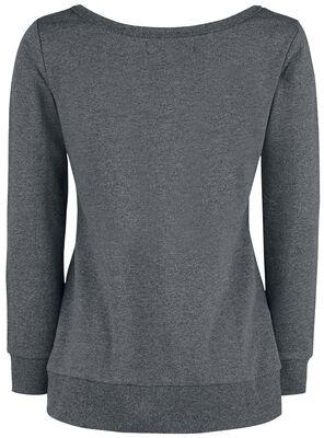 Sweatshirt with Print and Studs