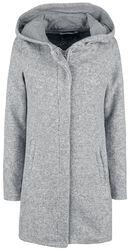 Long Melange Sweat Coat