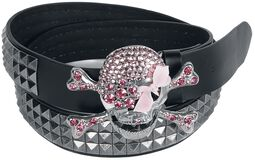 Belt With Studs and Skull Buckle