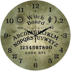 Glass Wall Clock Ouija