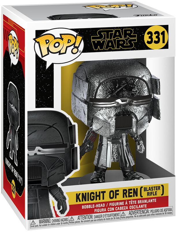 Episode 9 - The Rise of Skywalker - Knight of Ren (Blaster Rifle) (Chrome) Vinyl Figure 331