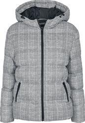 Ladies AOP Glencheck Puffer Jacket