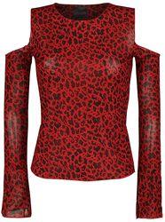 Open-Shoulder Leopard-Print Top