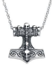 Thor's Skull Hammer Necklace