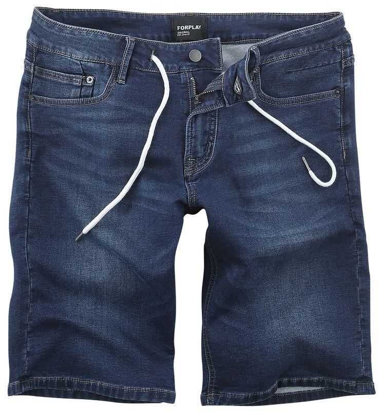 5 Pocket Front Knotted Sweat Denim Short