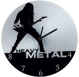 Glass Wall Clock Heavy Metal
