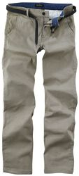 AOP Stretch Chino w. Belt