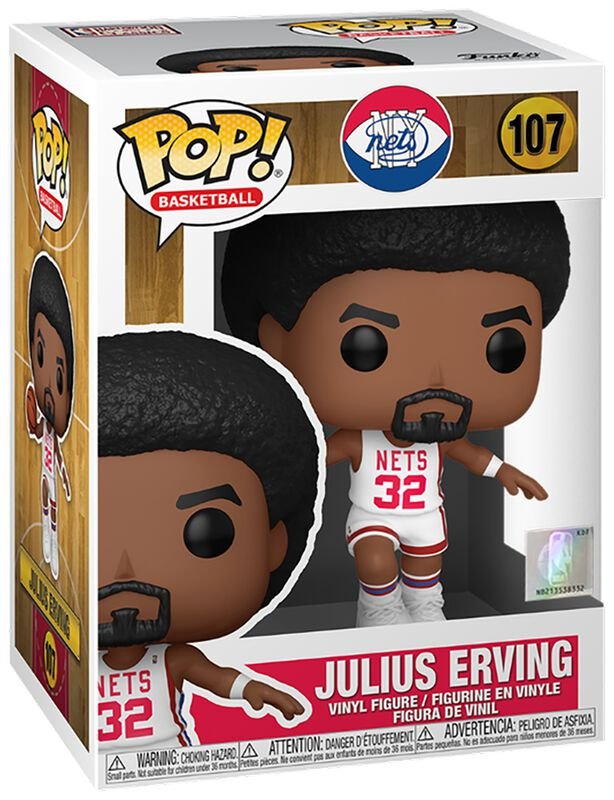 Brooklyn Nets - Julius Erving (Home Jersey) Vinyl Figure 107