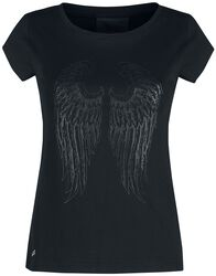Shirt mit transparenten Wings