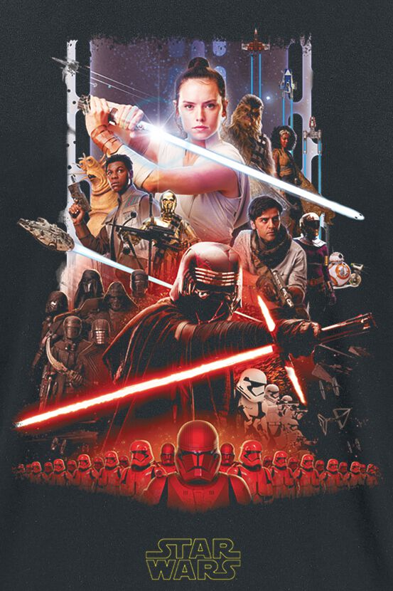Episode 9 The Rise Of Skywalker Poster Star Wars T Shirt Emp