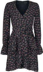 Wrap-Front Ruffle Dress