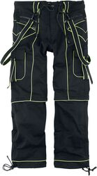 Nick - Black Trousers with Neon Details