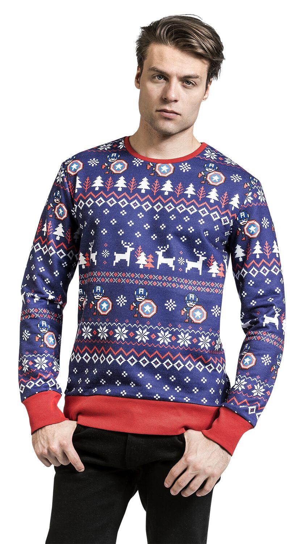 Christmas Sweater | Captain America Christmas Jumper | EMP