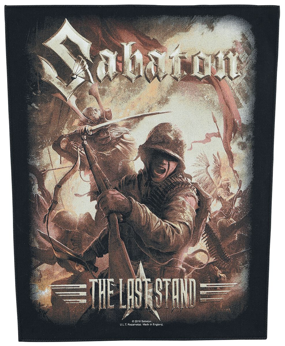 the last stand sabaton back patch