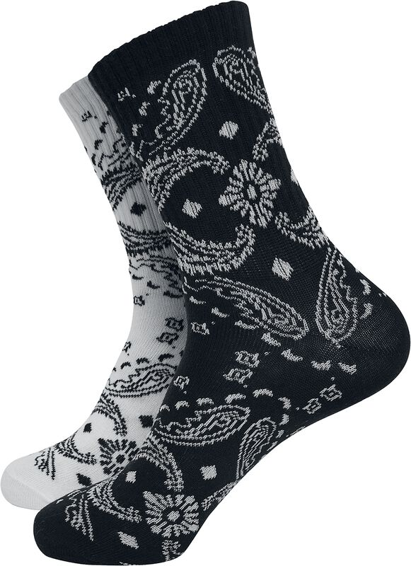 Bandana Pattern Socks 2-Pack