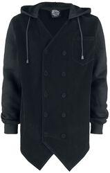 Black Button Hood
