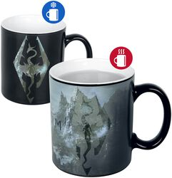 V - Skyrim - Dragon Symbol - Heat-Change Mug