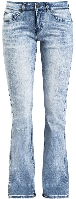 Grace - Light-Blue Jeans with Wash and Turn-Up