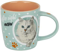 Cat Lover Coffee Right Meow