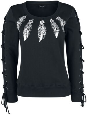 Sweatshirt wtih Print and Lacing
