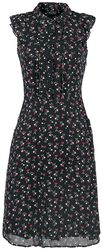 Cheryl Cerry Print Tea Dress
